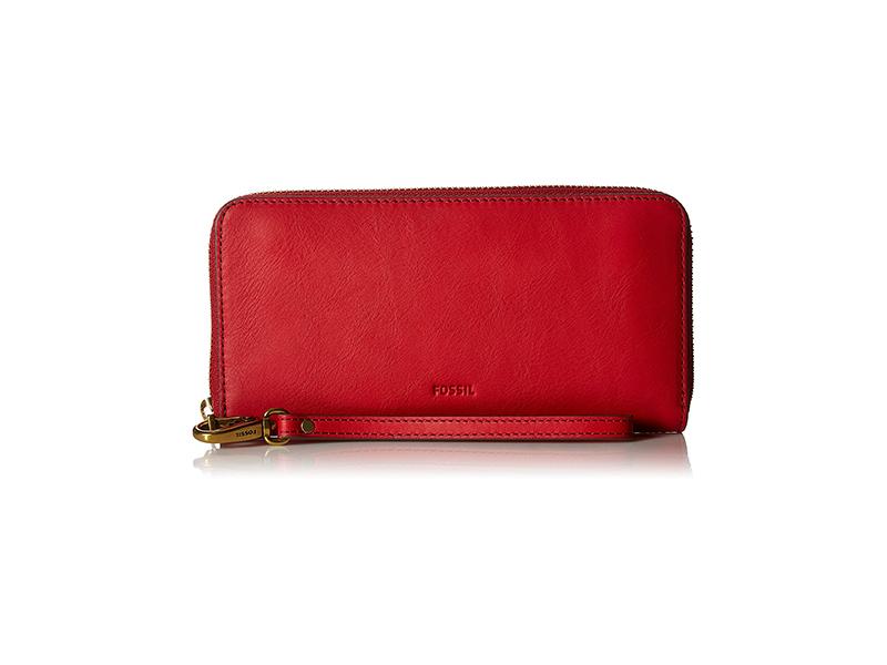 Fossil Emma Large Zip RFID Wallet