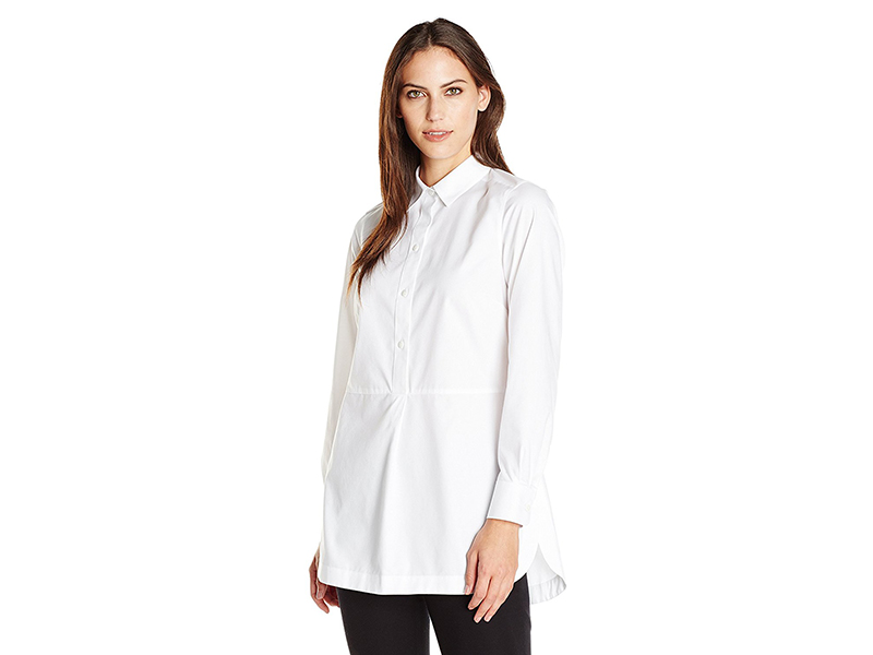 Foxcroft Long-Sleeve Non-Iron Tunic Shirt