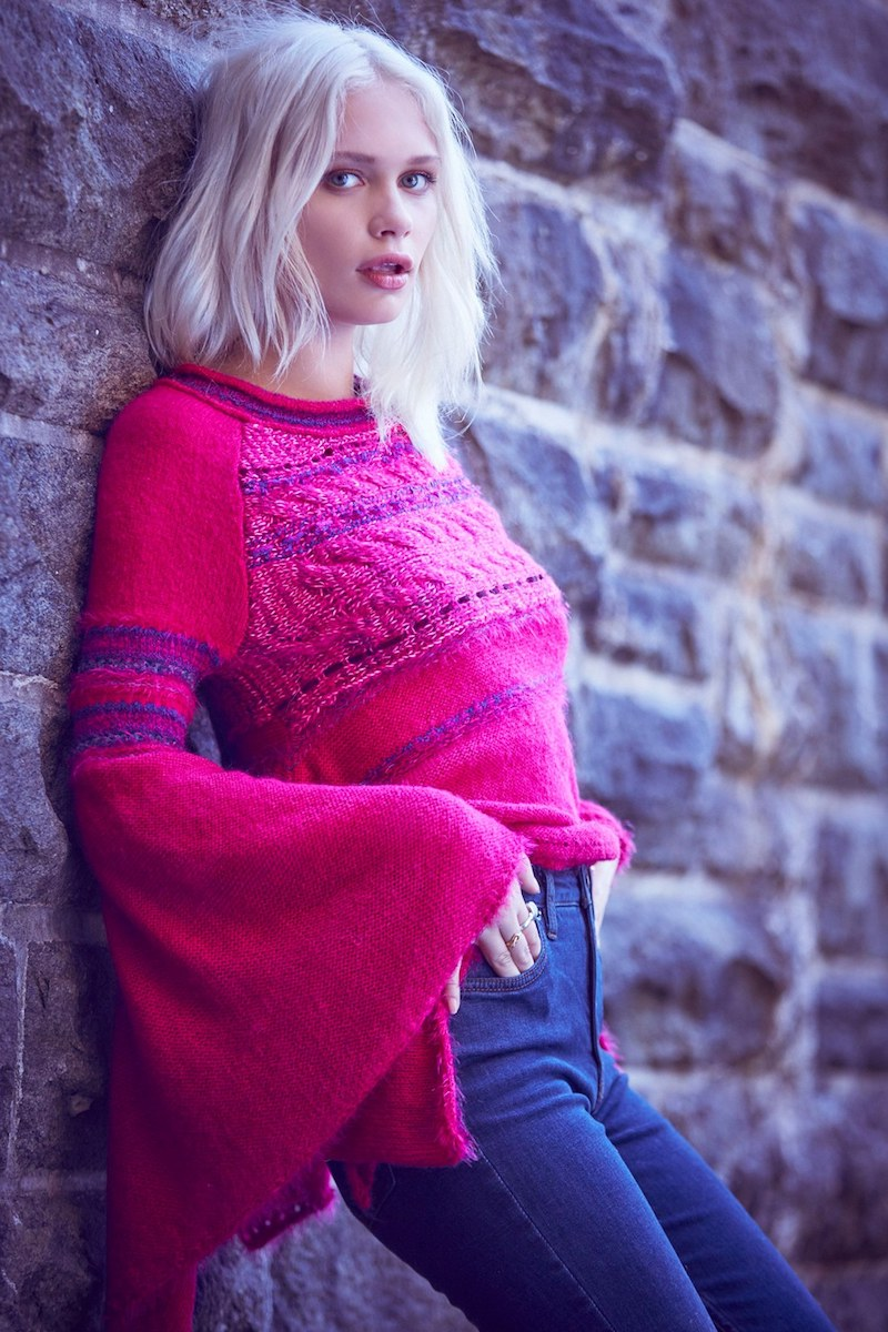Free People Craft Time Mixed Knit Sweater