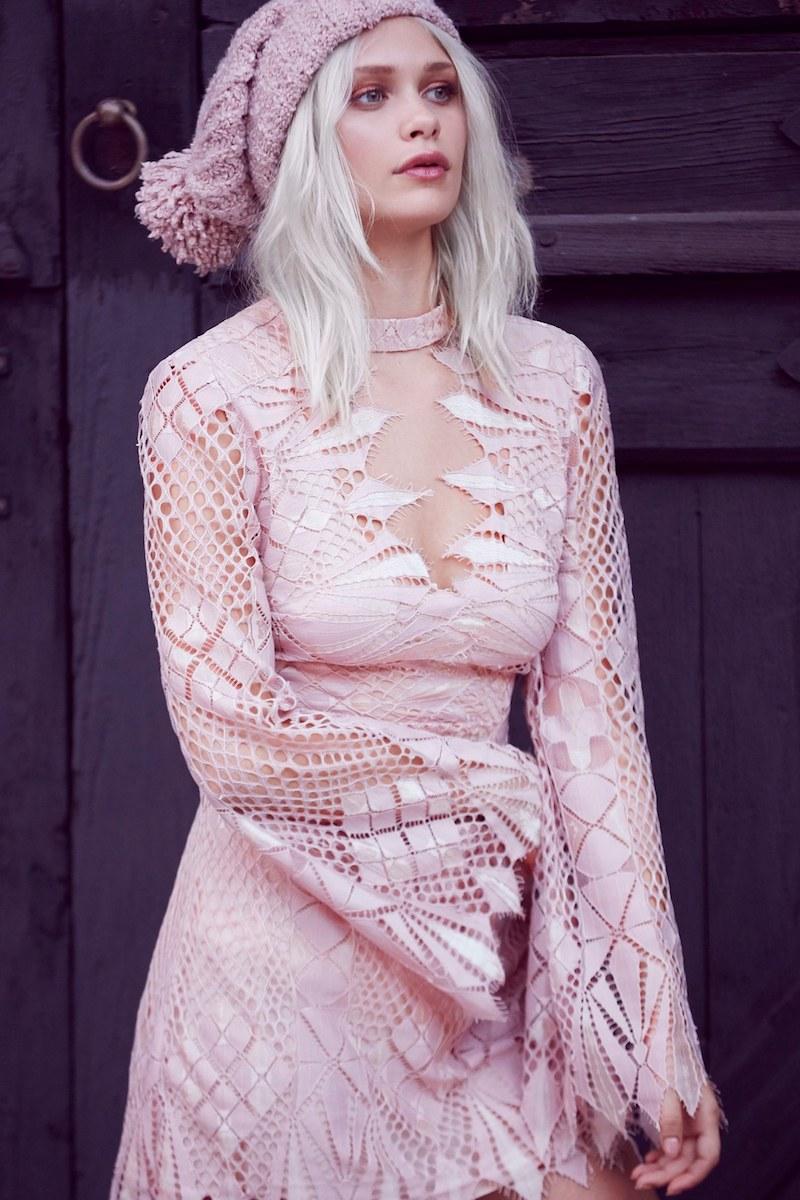 Free People Deco Crochet Minidress