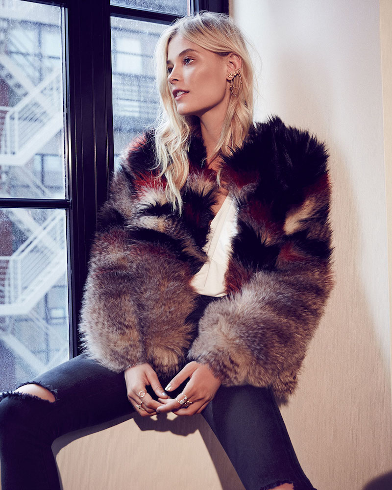 Free People Scarlet Fax Fur Jacket