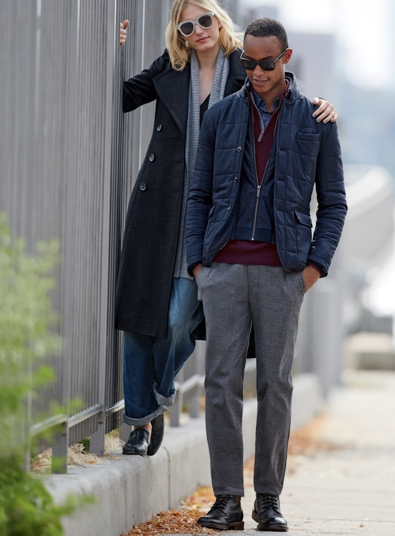 French Connection Long Wool Blend Coat