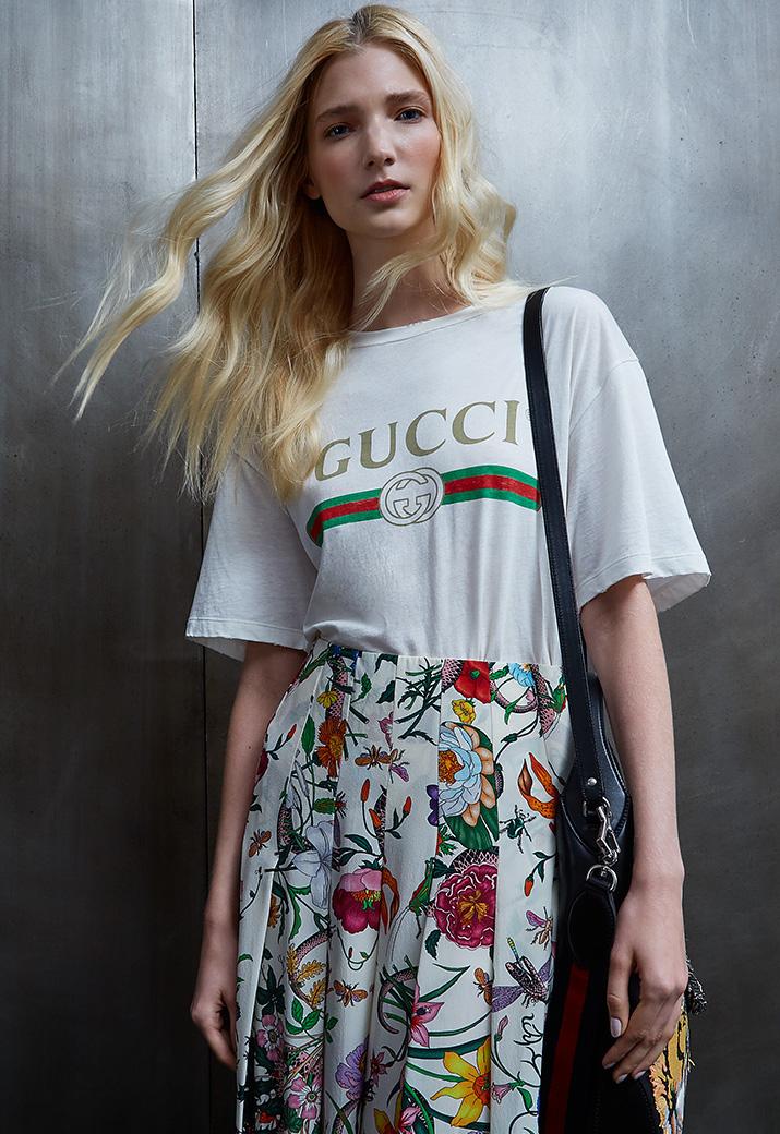 Gucci Gucci Print Cotton Tee