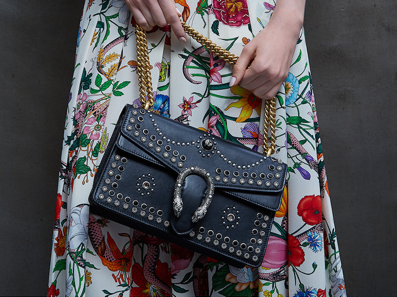 Gucci Small Dionysus Studded Leather Shoulder Bag