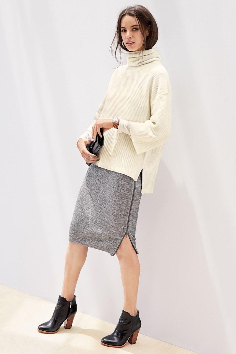 Halogen Side Zip Pencil Skirt