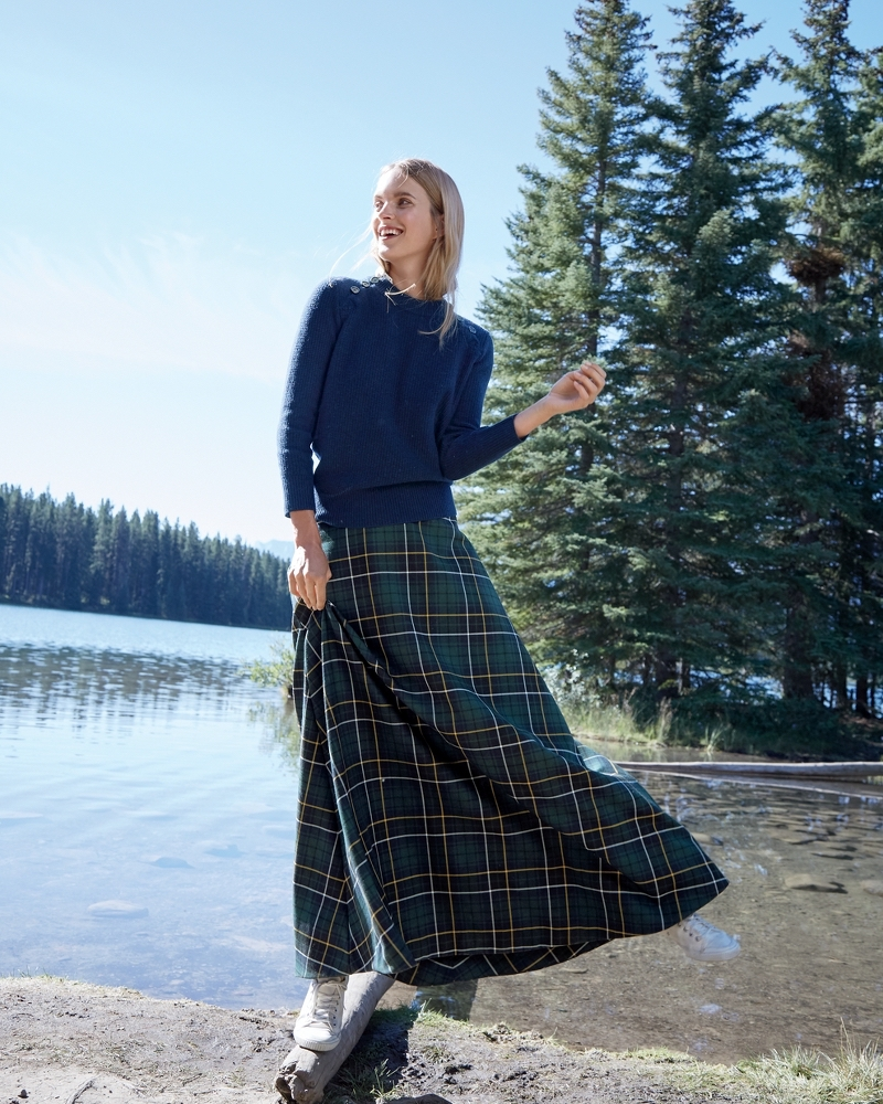 J.Crew Collection Maxi Skirt In Tartan