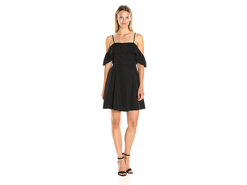 J.O.A. Women s Fit and Flare Cold Shoulder Dress