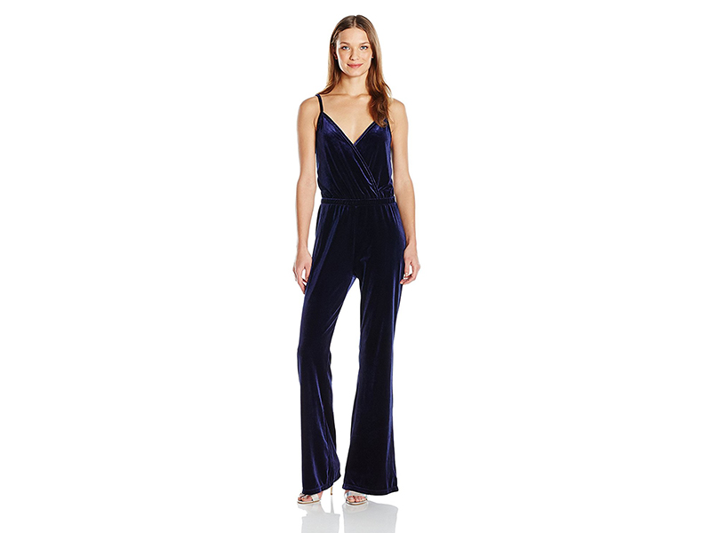Jack by BB Dakota Pearson Velvet Surplice Jumpsuit