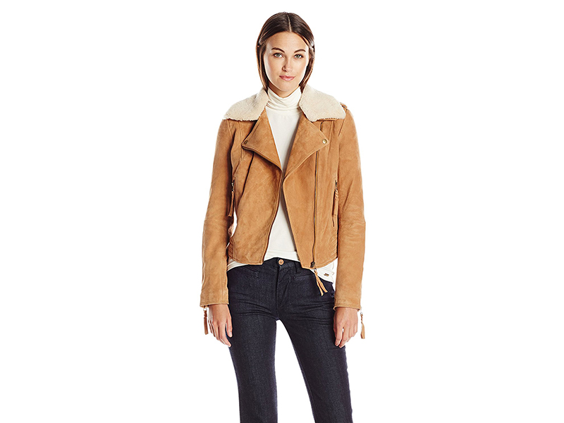 Joie Paulettewarm Suede with Shearling Collar