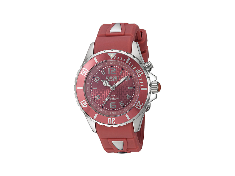 "KYBOE! ""Power"" Collection Quartz Stainless Steel and Silicone Casual Watch"