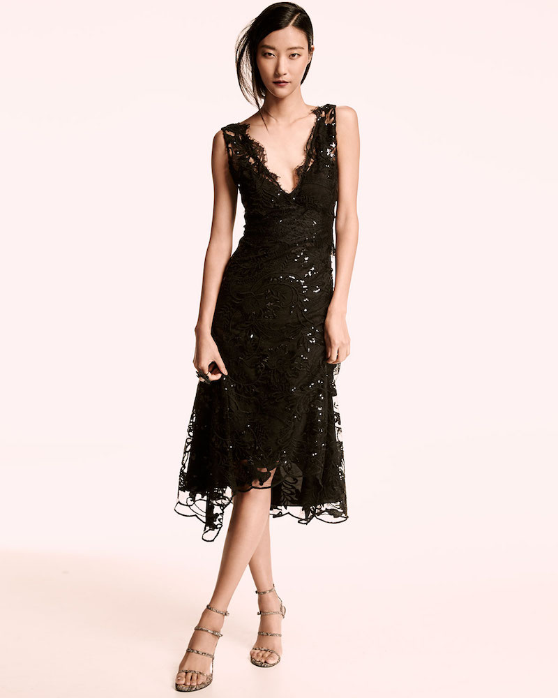 Kobi Halperin Sleeveless Embellished Lace Midi Dress