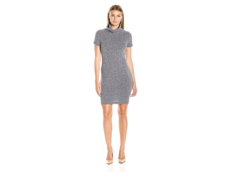 Lark & Ro Cowl-Neck Knit Dress