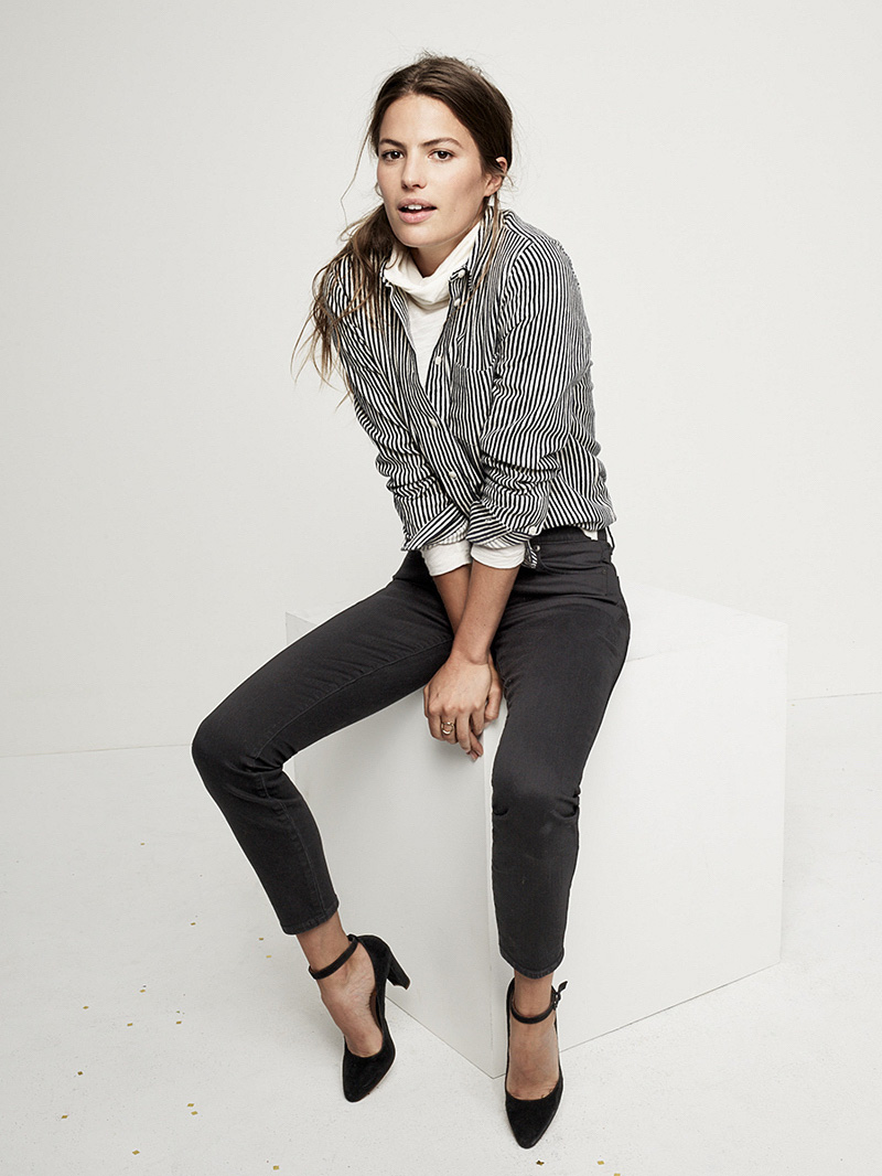 """Madewell 9"""" High-Rise Skinny Jeans In Black Frost"""