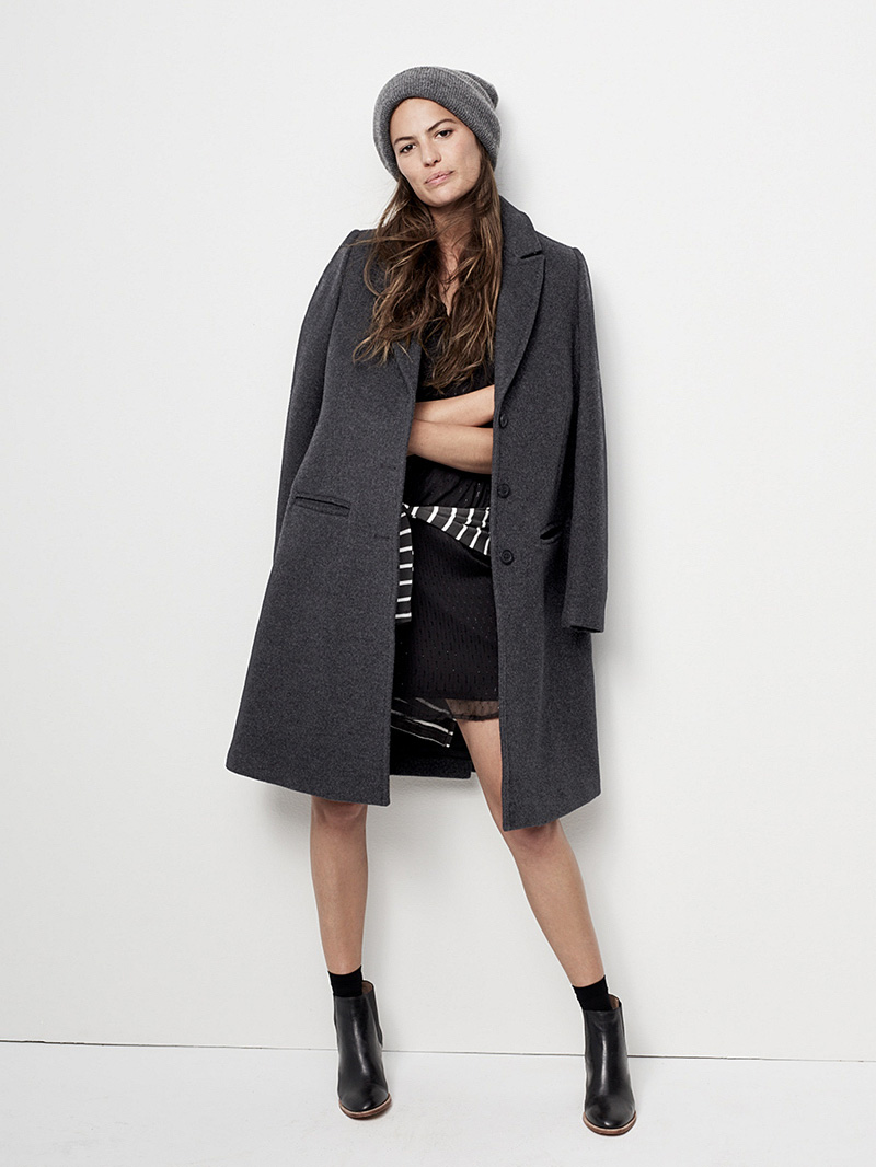 Madewell Teatro Swing Coat In Heather Grey