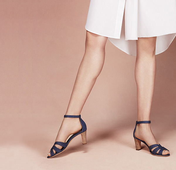Manolo Blahnik Unista Denim Ankle-Strap Sandals