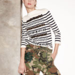 Marc Jacobs Animal-Sequin Striped Sweater