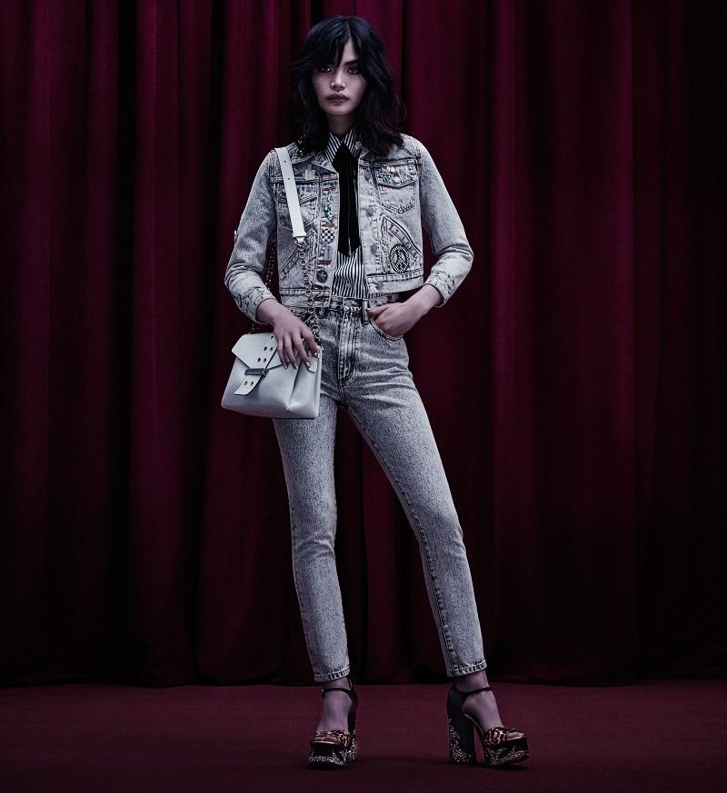Marc Jacobs Embellished Cotton Denim Jacket