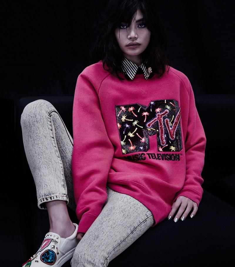 Marc Jacobs Embellished Wool-Blend Sweatshirt
