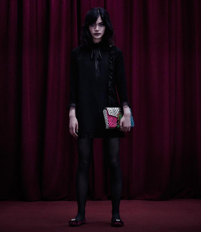 Marc Jacobs Embellished Wrap-Front Shift Dress