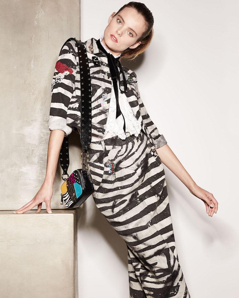 Marc Jacobs Embellished Zebra-Print Denim Jacket
