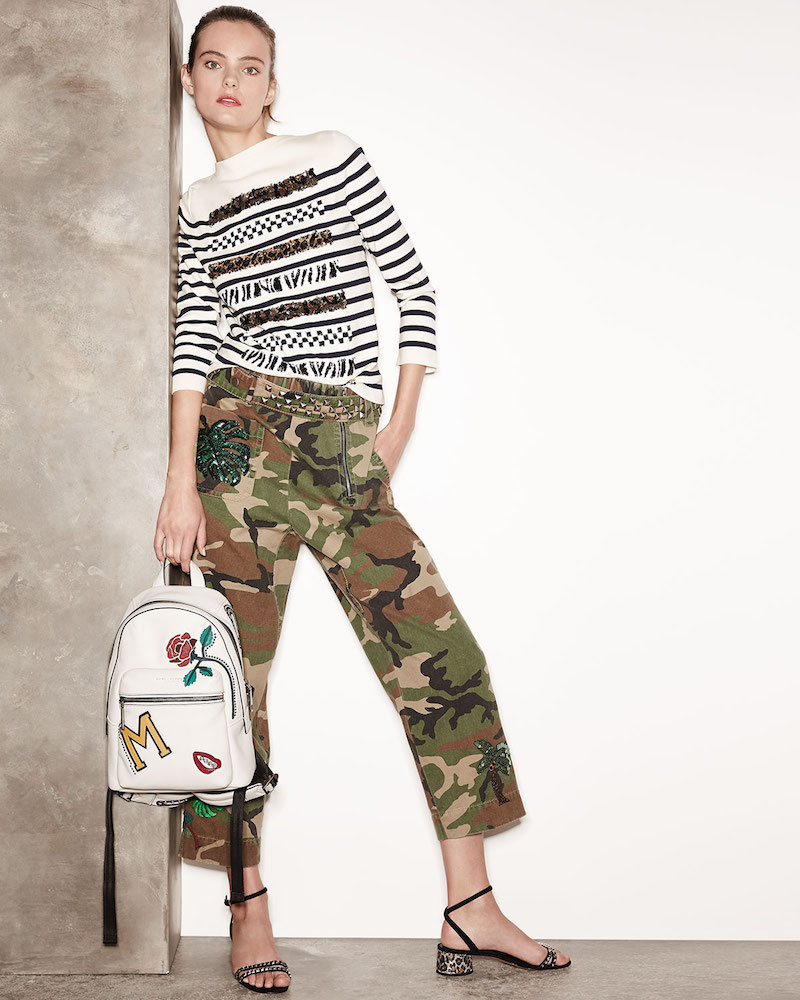 Marc Jacobs Paradise-Patch Camouflage Pants