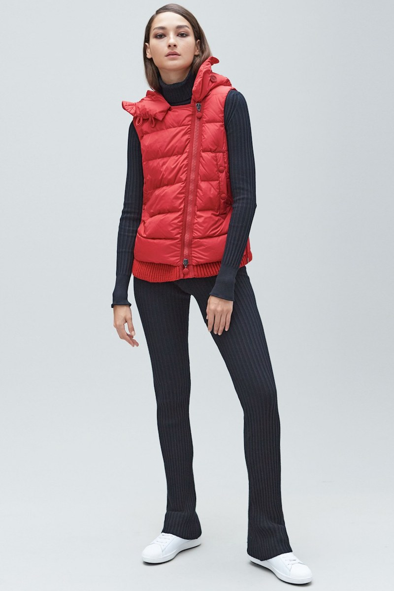 Moncler Laurie Hooded A-Line Down Vest