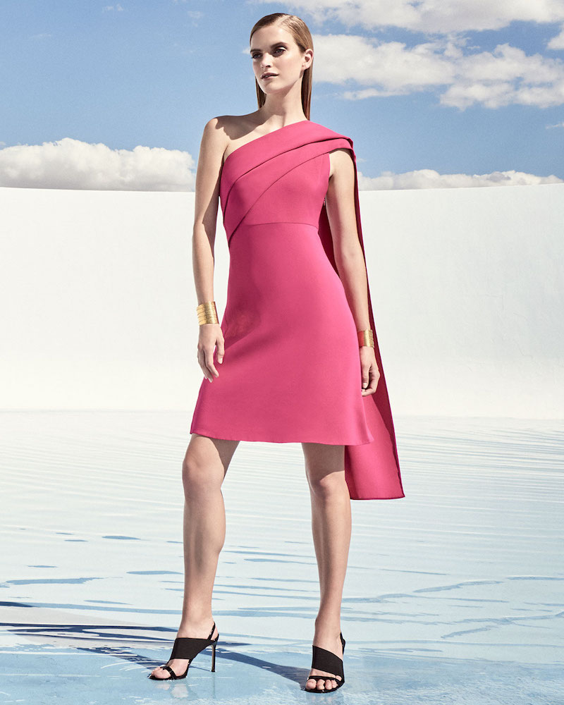 Narciso Rodriguez Draped One-Shoulder Dress
