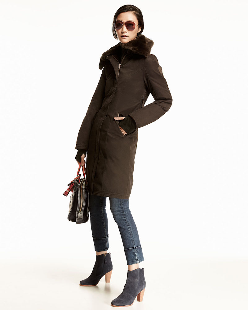 Nobis Lady Taylor Coat with Removable Fur Collar