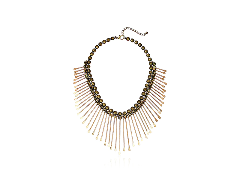 Panacea Antique Gold Bib Necklace