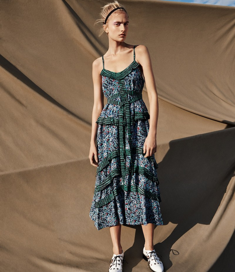 Proenza Schouler Abstract-Print Silk Georgette Maxi Dress