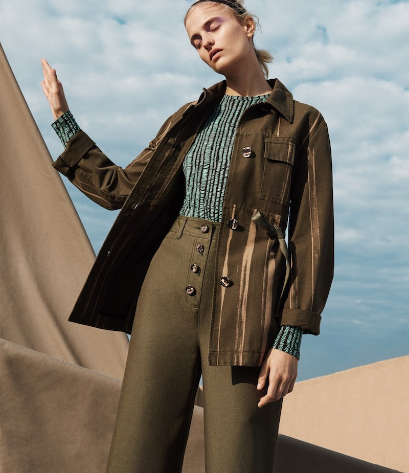 Proenza Schouler Striped Canvas Safari Jacket