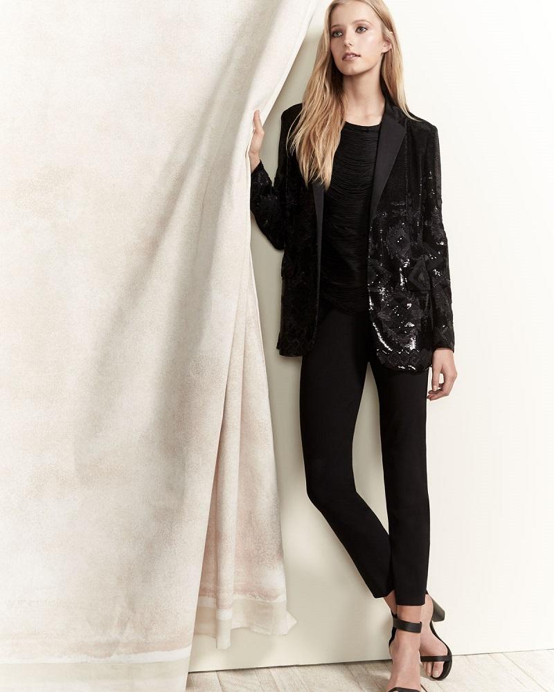 Ralph Lauren Collection Tess Geometric-Beaded Tuxedo Jacket