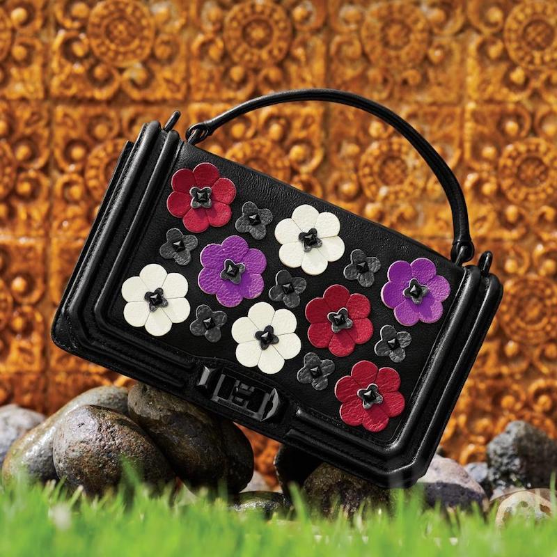 Rebecca Minkoff Love Floral-Appliqué Leather Crossbody Bag