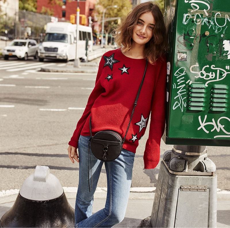 Rebecca Minkoff Prim Sweater with Sequin Stars