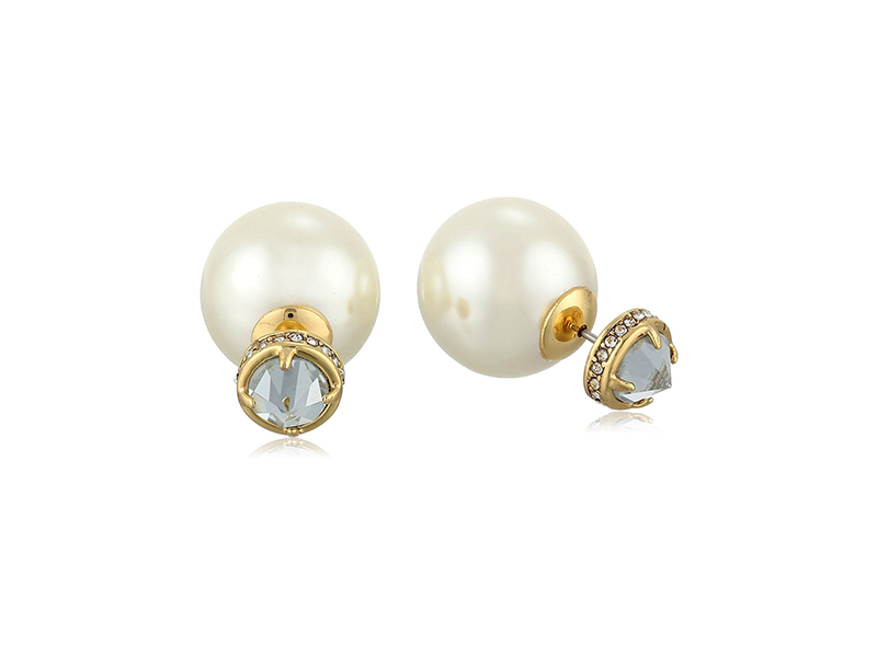 Rebecca Minkoff Simulated Pearl Front-Back Stud Earrings