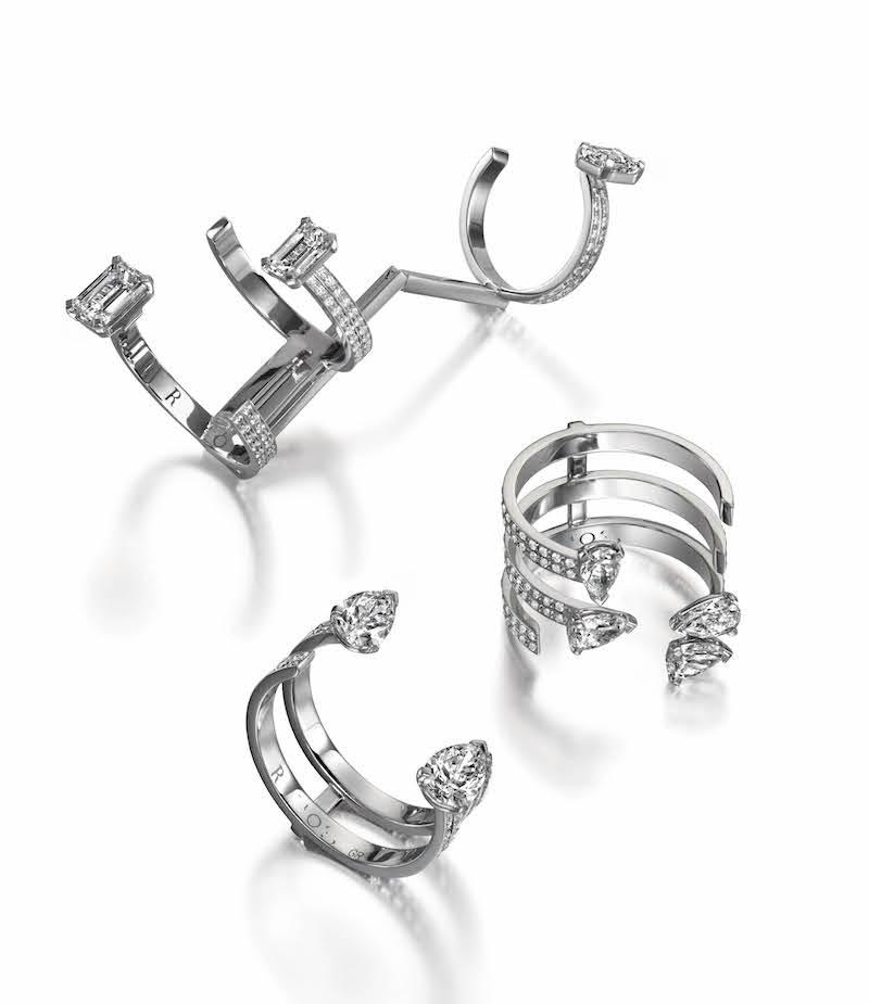 Repossi Serti Sur Vide Long Cuff Ring