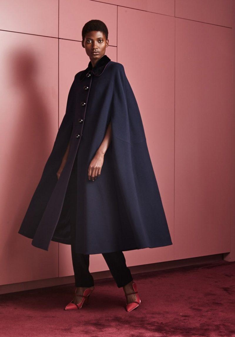 Roksanda Murren contrast-collar cady cape