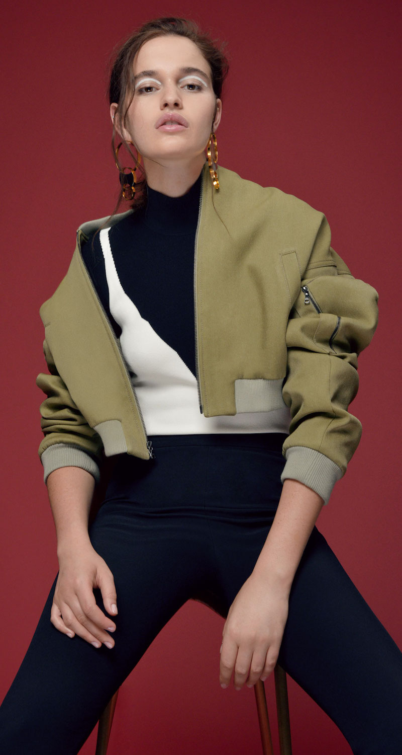 Rosie Assoulin Cropped Bomber Jacket