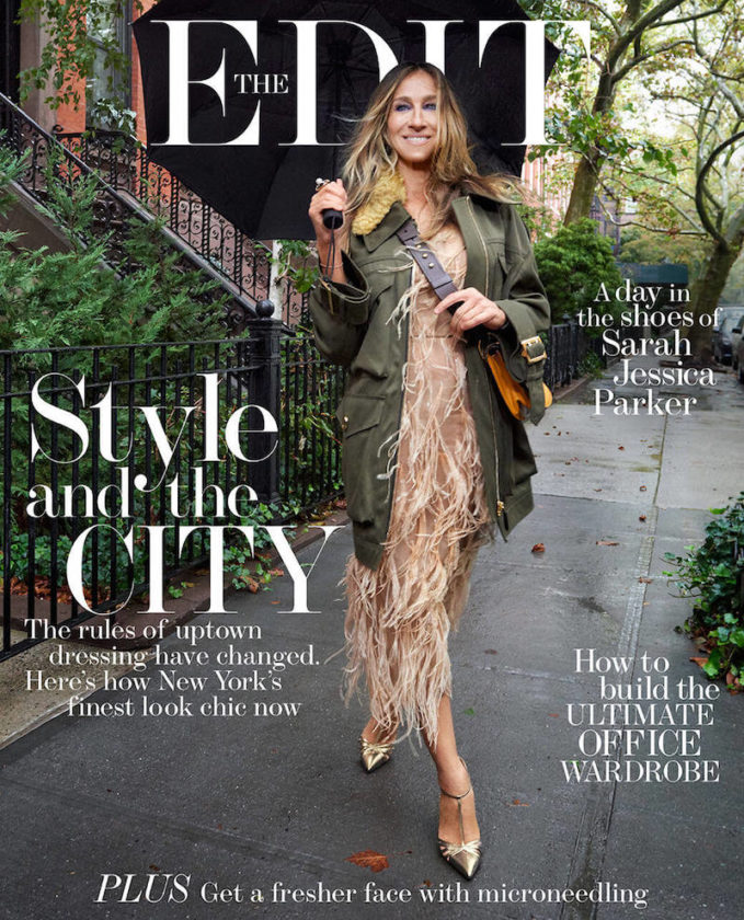 Running in Heels Sarah Jessica Parker for The EDIT Cover
