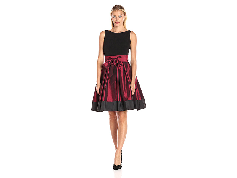 S.L. Fashions Sash Waist Party Dress
