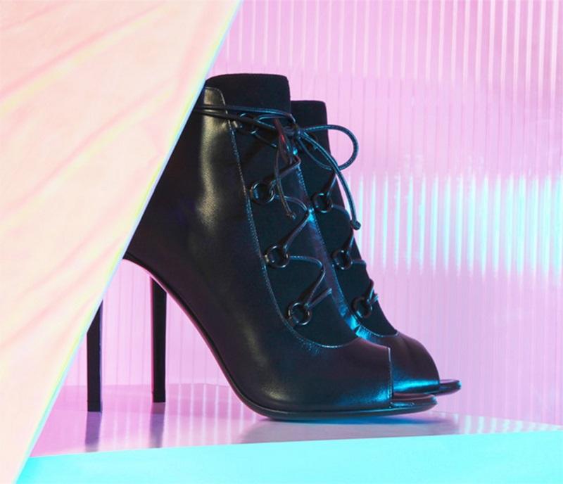 Saint Laurent Jane 105 ghillie leather ankle boots