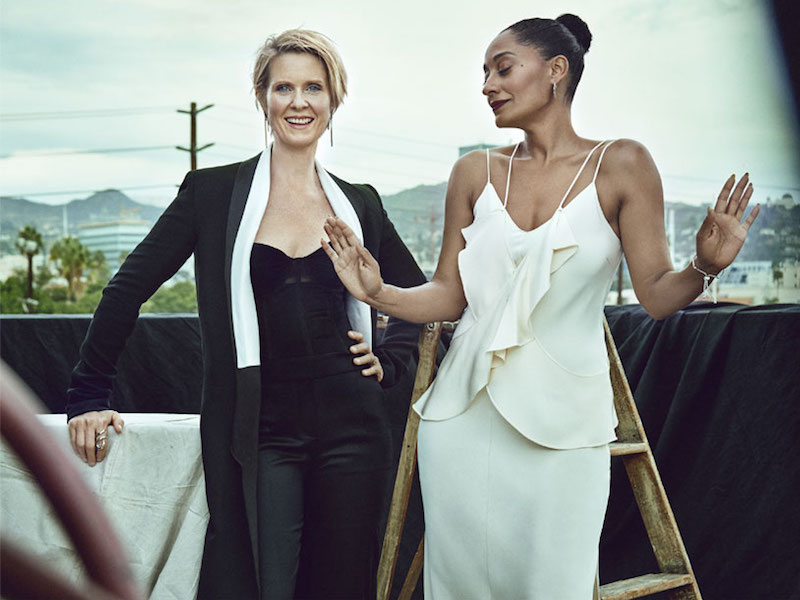 Screen Queens Cynthia Nixon, Tracee Ellis Ross, Kristen Bell & Michelle Monaghan for The EDIT 3
