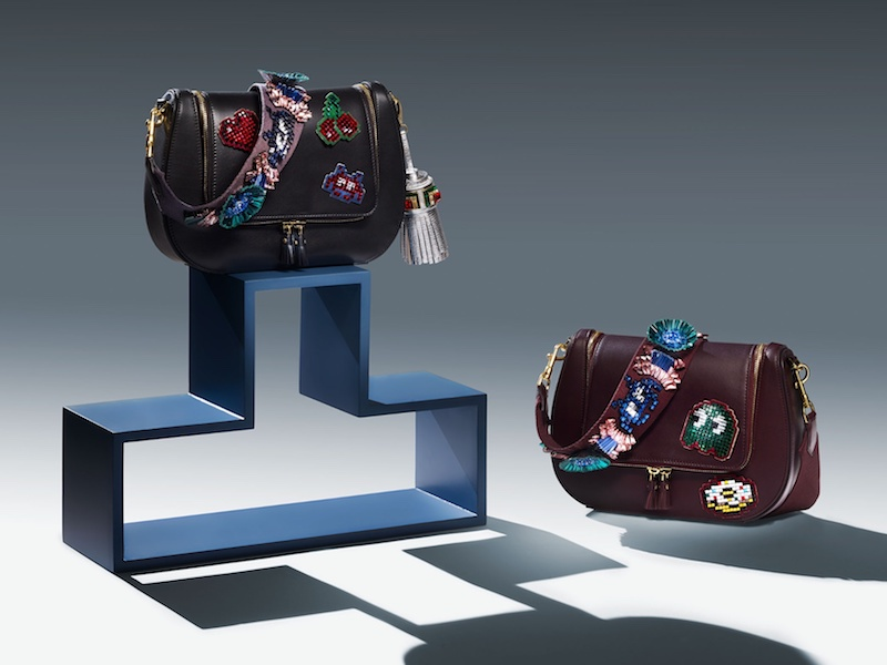 Anya Hindmarch Space Invaders Vere Leather Cross-Body Bag