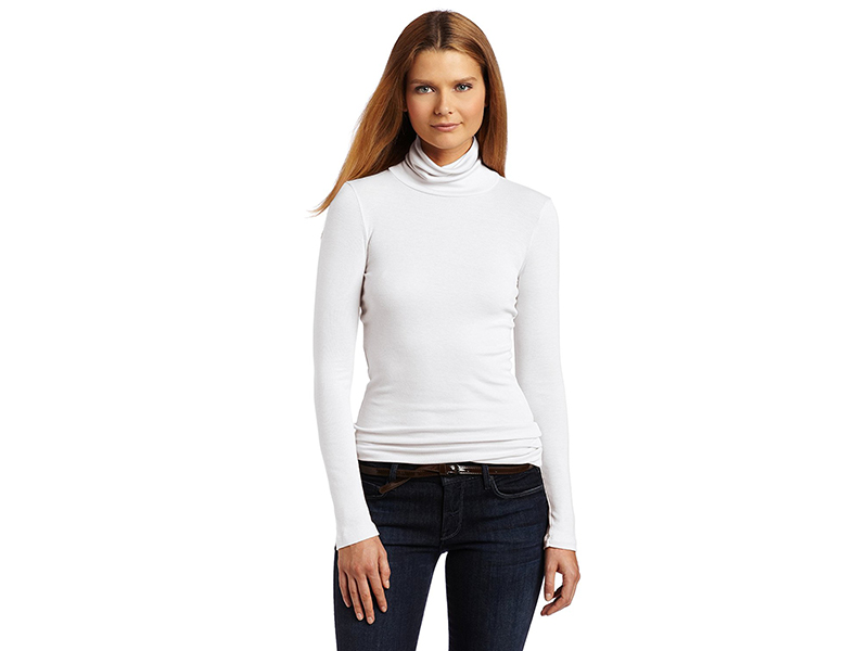Splendid 1x1 Long-Sleeve Turtleneck Sweater