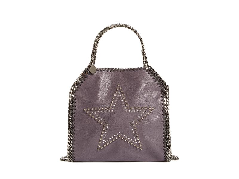 Stella McCartney Mini Falabella Studded Faux Leather Star Tote