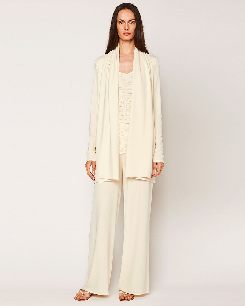 THE ROW Sua Draped Open Cardigan