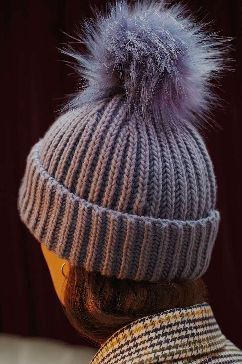 Topshop Faux Fur Pom-Pom Beanie Hat