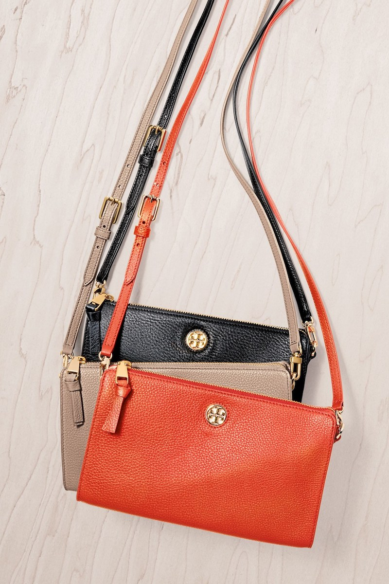 Tory Burch Robinson Pebbled Leather Crossbody Wallet