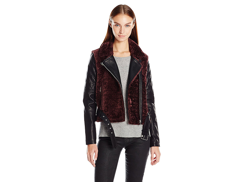 Vero Moda Daisy Short Jacket with Faux Fur