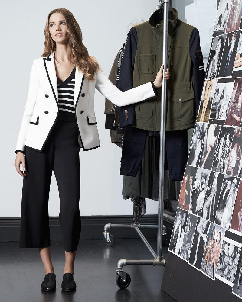 Veronica Beard Harriet Cutaway Contrast Jacket